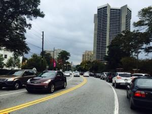 Peachtree Road, bike lane proposal