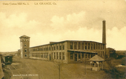 Unity Cotton Mill in LaGrange, one of several mills owned by the Callaway family.