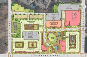 Civic Center site plan
