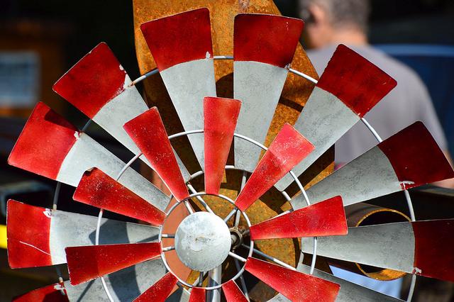 Scrap Pinwheel by Lisa Panero