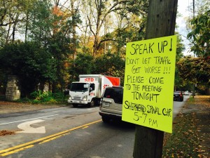 Peachtree Road, bike lane protest