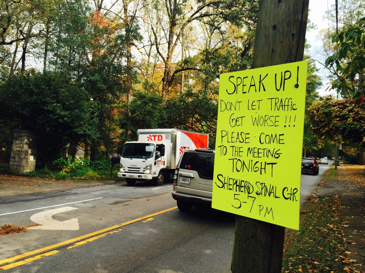 Peachtree Road, bike lane protest