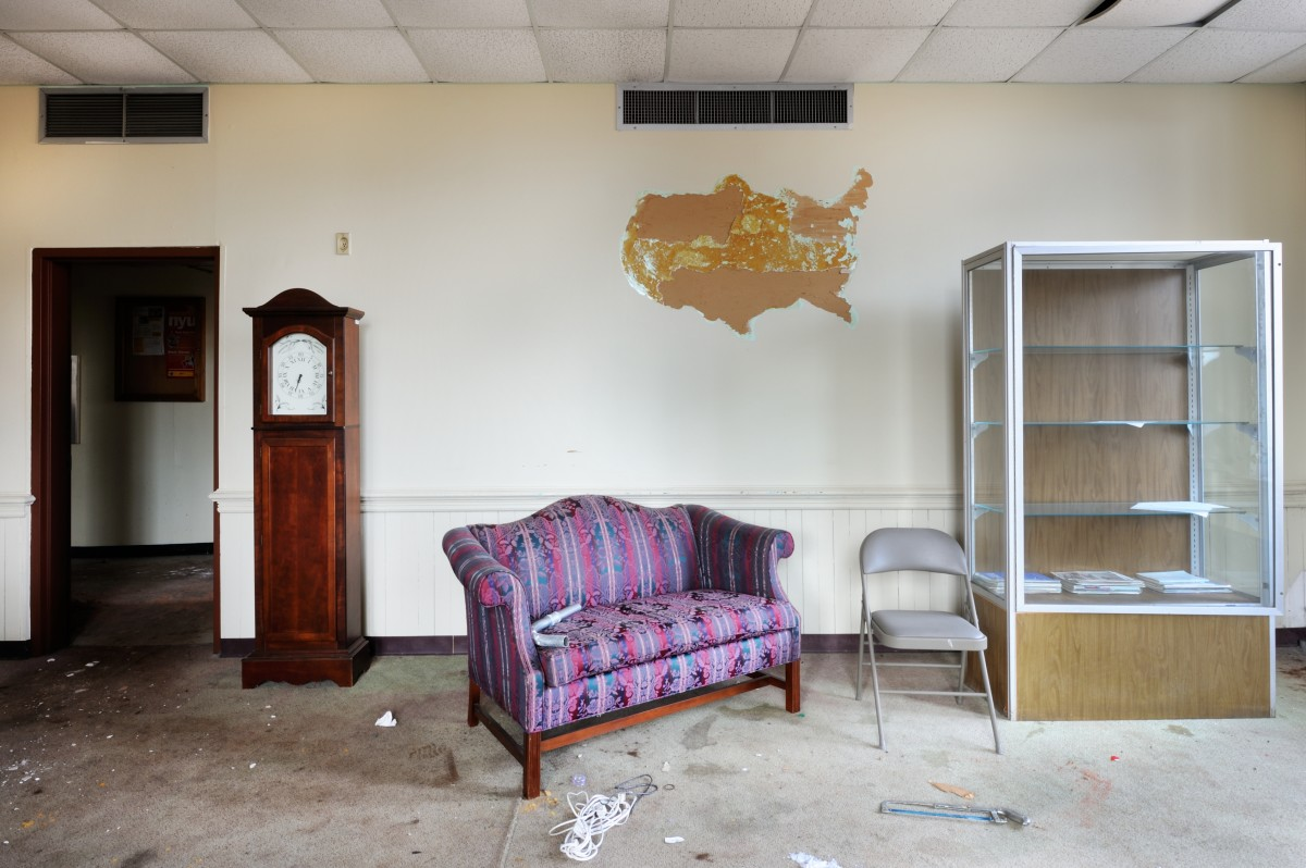 """""""Missing Map and More — Fountain Hall."""" Photo by Andrew Feiler"""