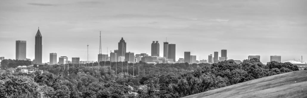 Atlanta Skyline from Crest Lawn Memorial Park by Carson Matthews