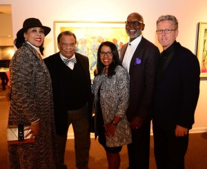 Romare Bearden exhibition, guests and owner
