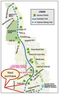 Eastside Trail map