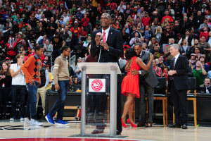 Dikembe Mutombo said after his formal remarks that he still has much to do in regards to humanitarian aid in African and around the world. Credit: Scott Cunningham, NBAE/Getty Images