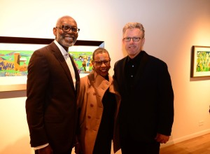 The Romare Bearden provided an opportunity for Jerry Thomas, Dr. Mary Schmidt Campbell (president of Spelman College), and Alan Avery to view works by America's preeminent African American artist.