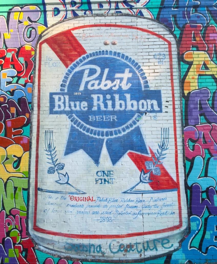 PBR Mural in East Atlanta by Trish Albert