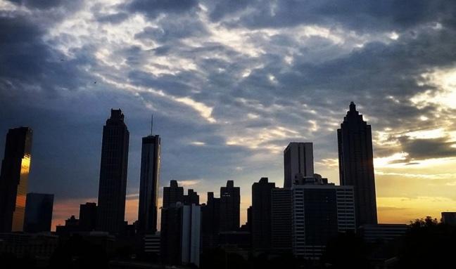 Sunset over Atlanta Better Buildings Challenge