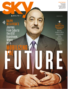 Delta's Sky magazine features Ralph in the cover story of its March 2015 issue