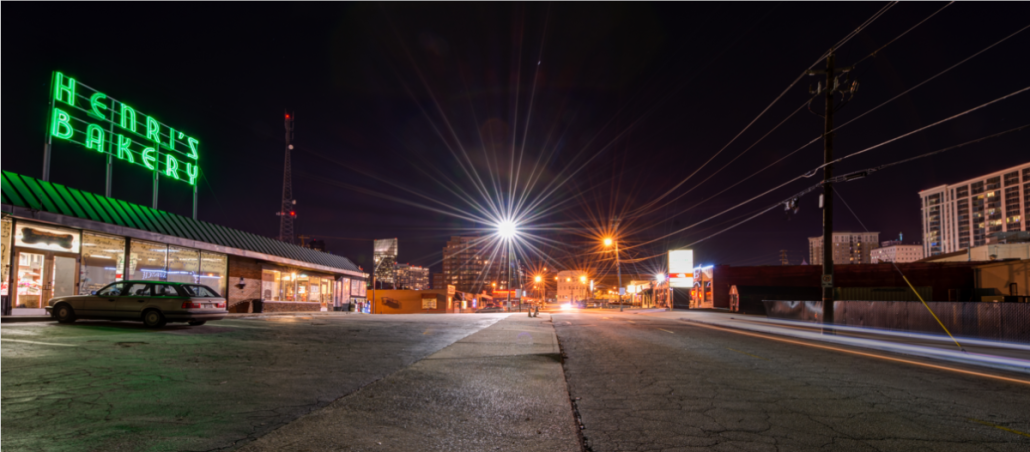 Irby Avenue in Buckhead at Night by Carson Matthews