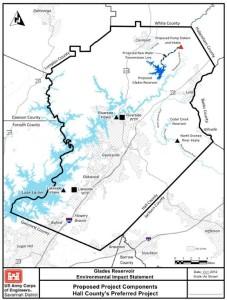 Glades reservoir map