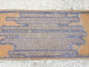 San Diego, Dog Beach plaque