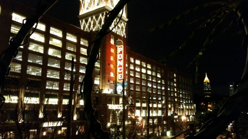 Ponce City Market is Phil's new favorite ATL building and the BoA tower in the background is an old favorite.