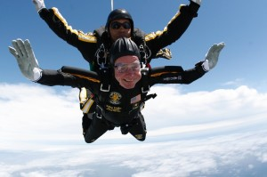 George Bush, parachute