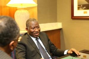Goodluck Jonathan & Steele confering #2