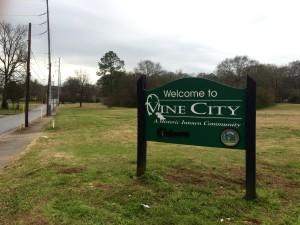Vine City gateway sign