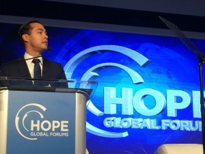 HUD Secretary addresses Operation HOPE's Global Forum in Atlanta (Photo by Maria Saporta)