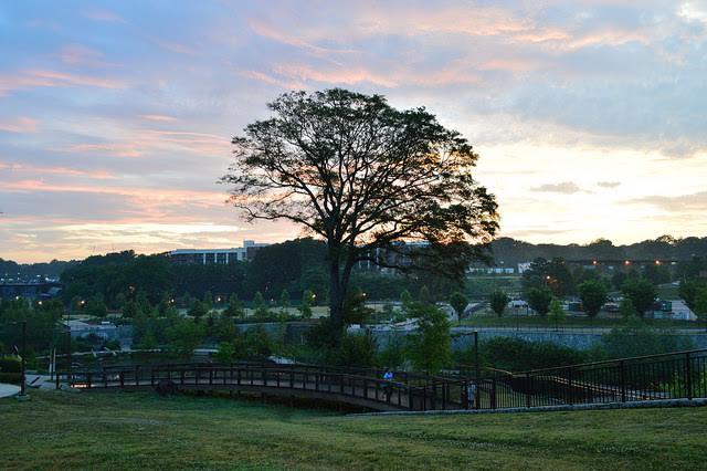 Old Fourth Ward park at sunrise by Lisa Panero