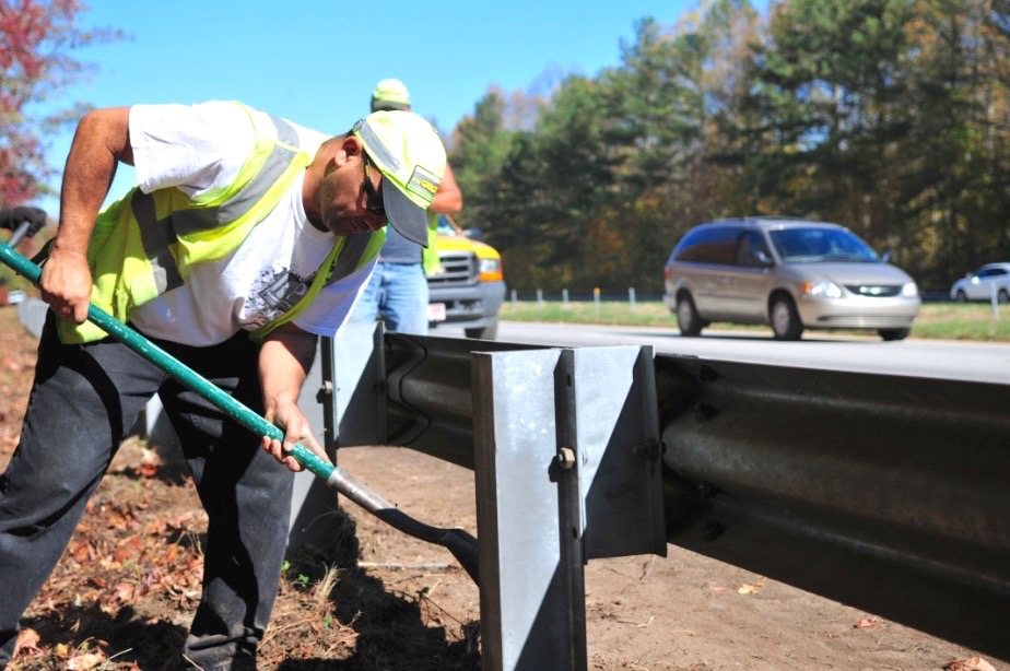 GDOT guardrail repair