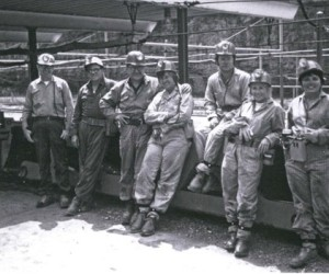 Lewis, center, dedicated herself to miners' rights