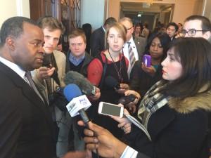 Mayor Kasim Reed reporters
