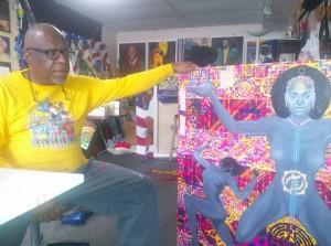 Steve R Allen in studio