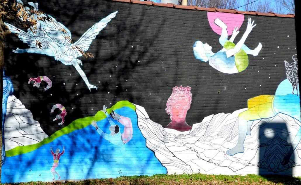 Irwin Street Mural by Lisa Panero