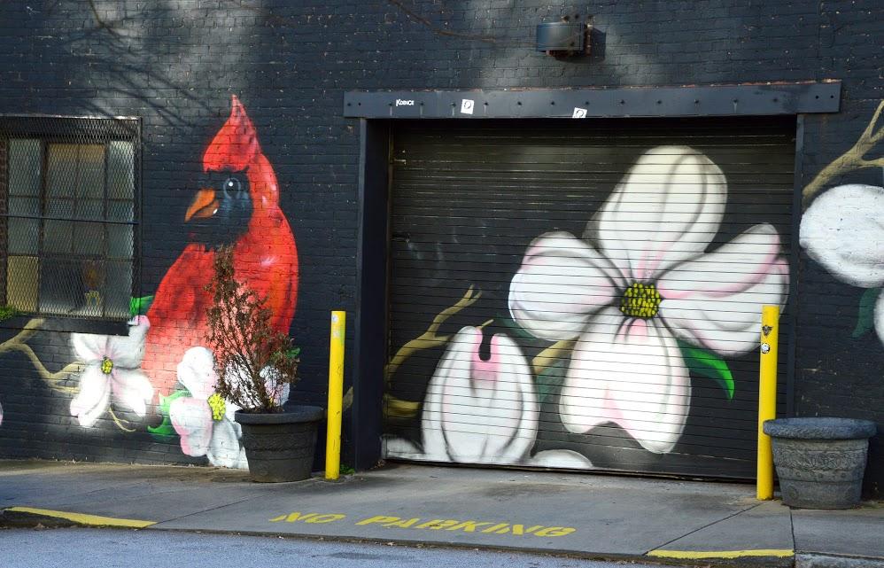 Red cardinal mural