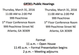 GRTA's public hearings