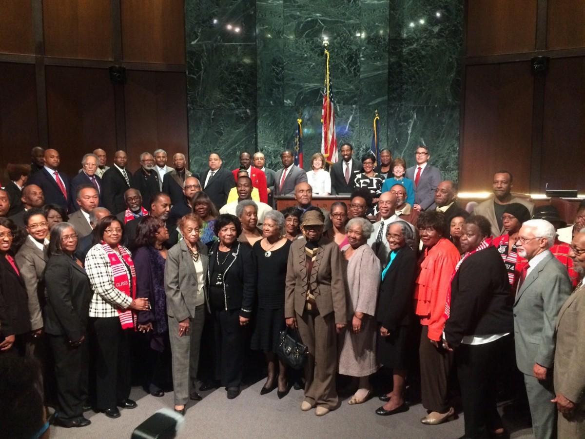 City Council honoring John Smith