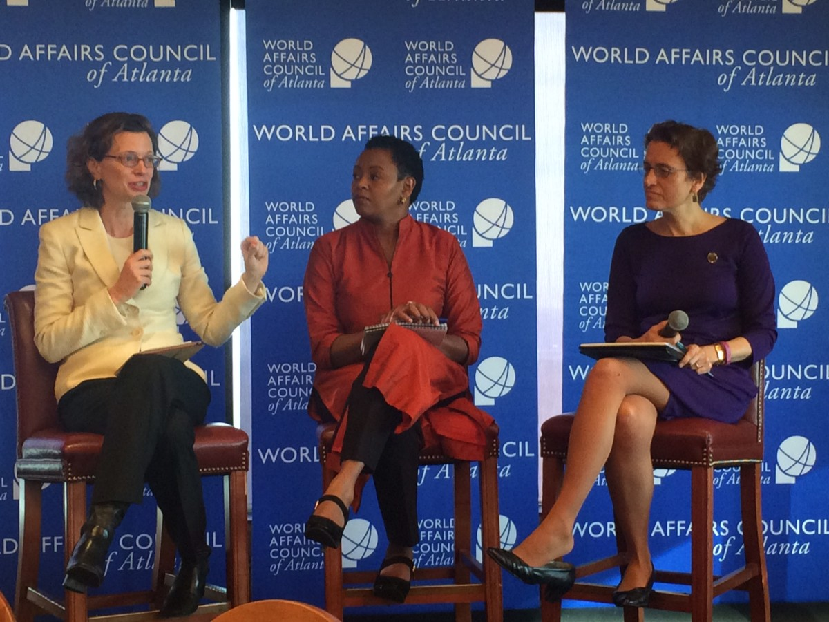Michelle Nunn, Joyce Adolwa and Elizabeth Kiss