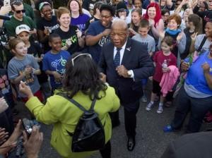 John Lewis dancing in Selma 2016