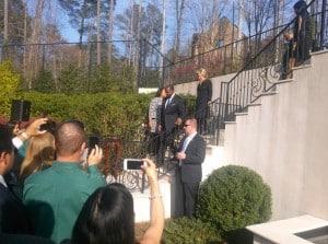 Kasim & Hillary walking to fundraiser
