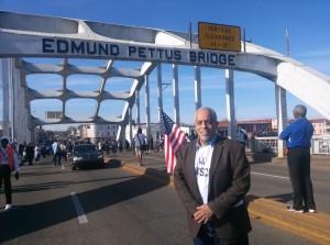 ME on Edmund Pettis Bridge 2016