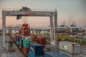 Savannah ports, cranes