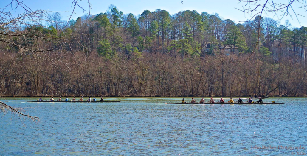 Rowers on the Chattahoochee by John Becker