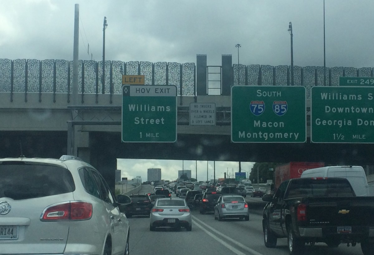 Traffic on Downtown Connector