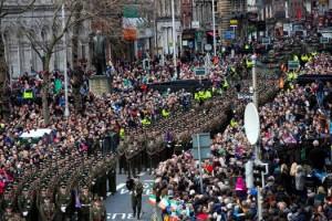 Easter Sunday parade commemorating the centenary in Dublin