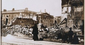 Dublin's General Post Office in the aftermath of the Rising