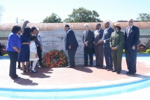 King Center Wreath laying
