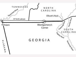 Georgia's northern and western boundaries