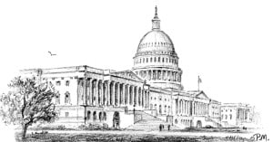 U.S. Capitol, drawing