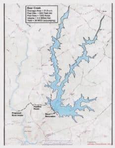 Bear Creek Reservoir, rendering