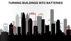 Buildings into batteries