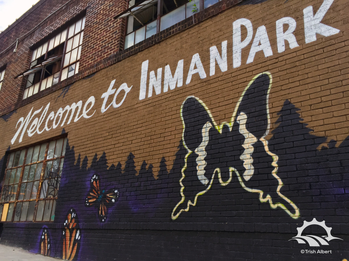 King of Pops Welcome to Inman Park sign