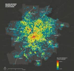 ARC map of bike-ped propensity