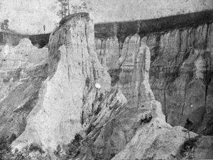 Providence Canyon. Courtesy of Georgia Archives, Vanishing Georgia Collection
