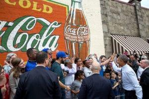 Manuel's Coke sign Obama